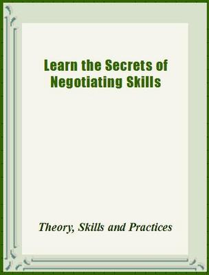 Product picture Learn the Secrets of Negotiating Skills
